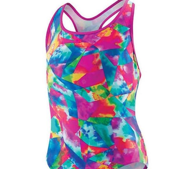 de5663e3517 Speedo Swim | Girls Tie Dye Racerback Swinsuit 1 Piece | Poshmark
